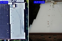 01 Flat Roof 1108 Castillian Ct._ Glenview before after