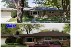 04 Asphalt Shingle Roof_ 8700 Avers_ Skokie before after