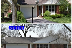 Asphalt Shingle Roof_ 1218 Warrington Rd._ Deerfield before after