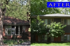 Asphalt Shingle Roof_ 12910 S. 71st Ct._ Palos Heights before after