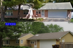 Asphalt Shingle Roof_ 133. S Heather Dr. Crystal Lake before after