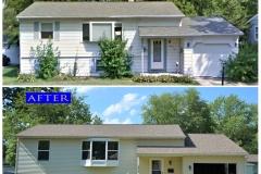 Asphalt Shingle Roof_ 1404 Windsor Circle_ Carpentersville before after
