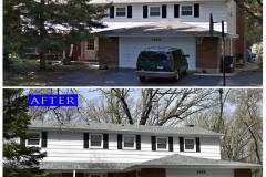 Asphalt Shingle Roof_ 1432 Crown Lane_ Glenview before after