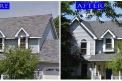 Asphalt Shingle Roof_ 740 Sprucetree Lane_ Algonquin before after