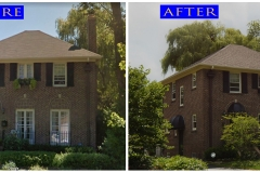 Asphalt Shingle Roof_ 911 Indian Rd._ Glenview before after