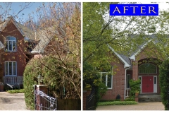Asphalt Shingle Roof_ 98 Locust Rd._ Winnetka before after