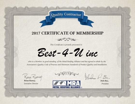 Quality Contractor 8 559x432 - About Page - Certificate Gallery